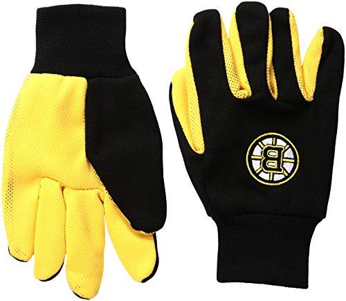 NHL Boston Bruins Handschuhe, zweifarbig, Unisex, GLVWKNH15BBU, Schwarz , Einheitsgröße