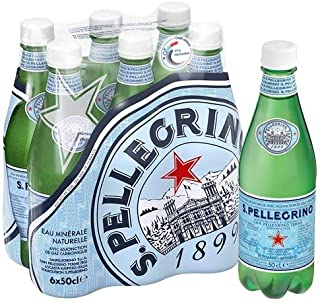 San Pellegrino Sparkling Natural Carbonated Mineral Water, 500 ml (Pack of 6)