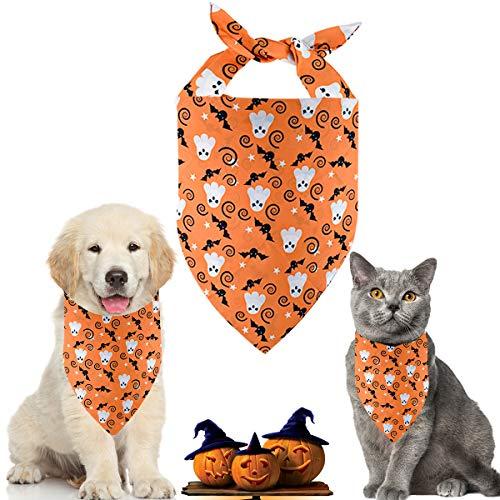 Hunde Halloween Bandana Kopftücher Hundehalstuch Dreieckstuch für Hunde Katze (B)