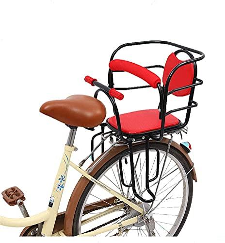 X&Y Portadores de Bicicletas Infantiles Asiento Trasero de la Bicicleta para bebé, Valla de Seguridad Barra de protección contra apoyabrazos y Pedal Adecuado para niños de 2 a 6 años