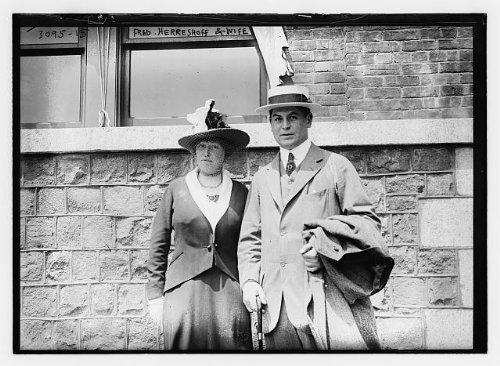 HistoricalFindings Photo: Fred Herreshoff,Wife,Frederick Herreshoff,1888-1920,American Amatuer Golfer