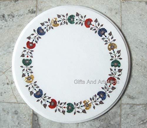 Gifts And Artefacts - Mesa central de mármol con piedras preciosas para dar un aspecto real a tu hogar