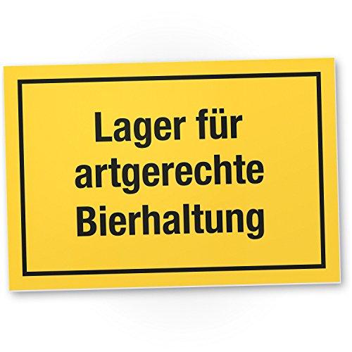DankeDir! Lager artgerechte Bierhaltung - Kunststoff Schild mit Spruch Kühlschrank Lustige Geschenkidee Geburtstagsgeschenk Bester Freund Kumpel Kleines Geschenk Männer Party Deko