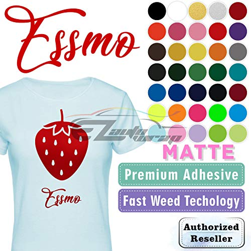 """ESSMO Mustard Yellow Matte Solid Heat Transfer Vinyl HTV Sheet T-Shirt 20"""" Wide Iron On Heat Press - Best HTV for Silhouette Cameo and Cricut 20""""x12"""""""
