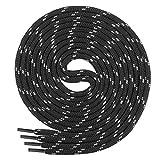 Di Ficchiano runde SCHNÜRSENKEL für Arbeitsschuhe und Trekkingschuhe - sehr reißfest - ø ca. 4,5 mm, Polyester - SP-01-black/grey-120