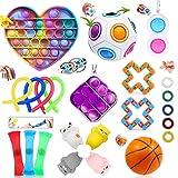Juegos de juguetes inquietos, juegos de juguetes inquietos sensoriales, 23 juegos de juguetes inquietos para niños y adultos, juguetes sensoriales baratos, juguetes inquietos para fiestas de cumpleaño
