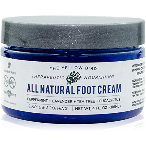 All Natural Antifungal Foot Cream. Moisturizing Organic Relief for Dry Cracked Heels, Callused Feet, Athletes...