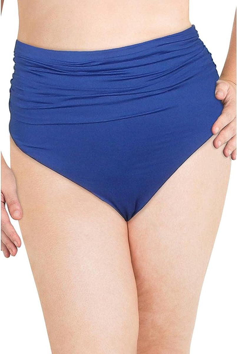 LAUREN RALPH LAUREN Women's Plus Shirred Bikini Swim Bottom Separates
