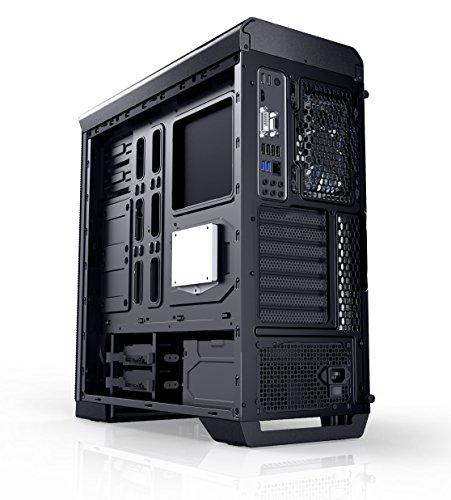 Nox Hummer ZX - NXHUMMERZX - Semitorre ATX - micro ATX, ventana lateral transparente, incluye 3 ventiladores 120mm, espacio para hasta 5 ventiladores, opción para refrigeración liquida, color negro