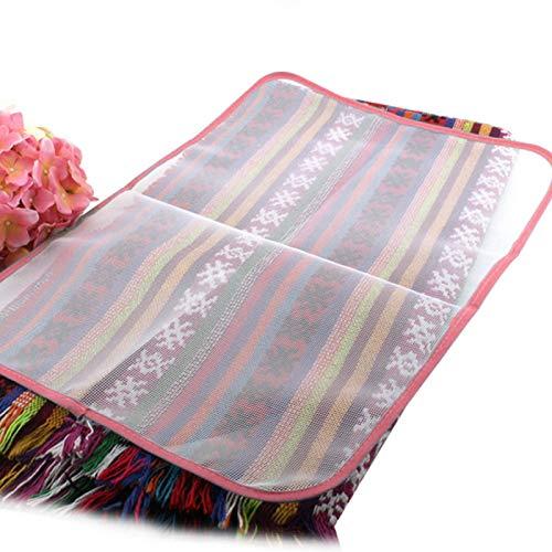 GCDN Alfombrilla de planchado para planchar, almohadilla de planchado de viaje, funda de almohadilla térmica para mesa o cama, resistente al calor, portátil, acolchado (colores enviados al azar)