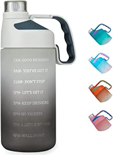 EAILGORL Water Bottles with Motivational Time Marker & Straw Leakproof BPA Free Reusble Flip Top Water Bottle for Sports a...