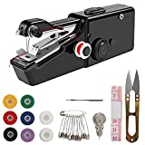 Handheld Sewing Machine, Hand Cordless Sewing Tool Mini Portable Sewing Machine, Essentials for Home Quick Repairing and Stitch Handicrafts (Black)
