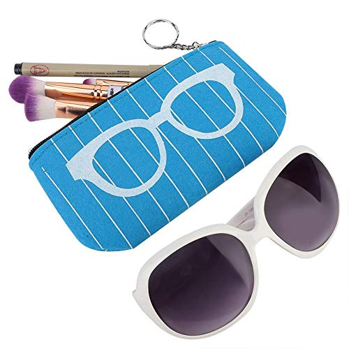 Gmkjh Bolsa de Almacenamiento, Almacenamiento portátil para Gafas, Bolsa con Cremallera, Caja para Gafas de Sol, Caja de Fieltro(Blue)