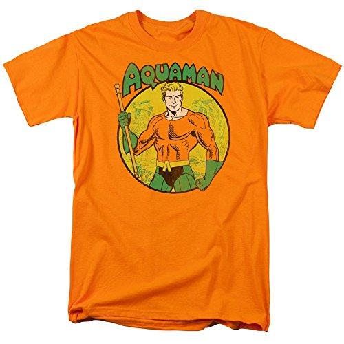 Aquaman Cercle Image Orange Adulte T-Shirt Tee - Orange - Large
