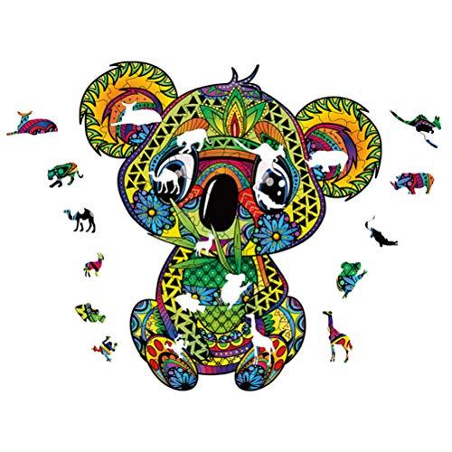 ExH Puzzle a Forma di Animale, Puzzle in Legno Puzzle a Forma di Animale Puzzle a Forma di Koala Regalo di Natale e Interessante Collezione di Giochi per Famiglie