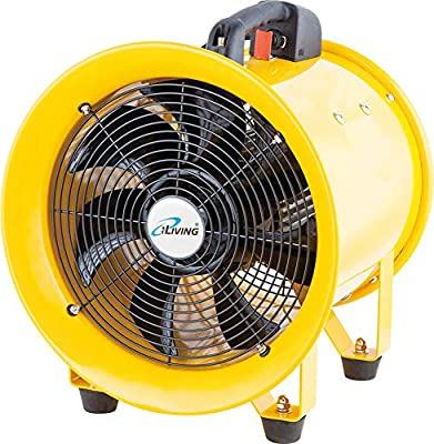 iLIVING - ILG8VF12 Utility High Velocity Blower, Fume Extractor, Portable Exhaust and Ventilator Fan, Air Ventilation with 2720 CFM, 3450 RPM (12 Inch)