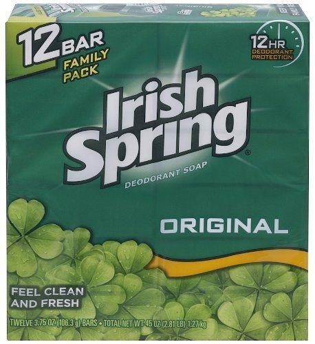 Irish Spring Bath Bar Soap, Original, 3.75 oz. Bars, 12-Count by Irish Spring BEAUTY (English Manual)