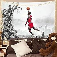 ブルズ、ジョーダンファンの背景の壁のポスター、スタジオのタペストリー、バスケットボールチームのポスターのタペストリーを覆うリビングルームの壁 A- 150CM*200CM