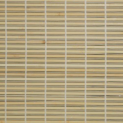 Liedeco Rollo Holz mit Seitenzug, Holzrollo für Fenster und Tür Natur B 140 cm x L 17.