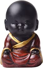 F Fityle Resin Buddha Statue, Sitting Praying Spiritual Figurine, Indonesia Buddhist Sculpture Home Garden Outdoor - C