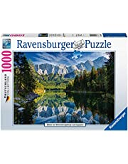 Eibsee mit Wettersteingebirge und Zugspitze. Puzzle 1000 Teile
