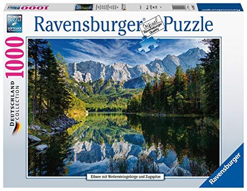 Ravensburger Puzzle 19367 - Eibsee mit Wettersteingebirge - 1000 Teile Puzzle für Erwachsene und Kinder ab 14 Jahren, Puzzle mit Alpen-Motiv