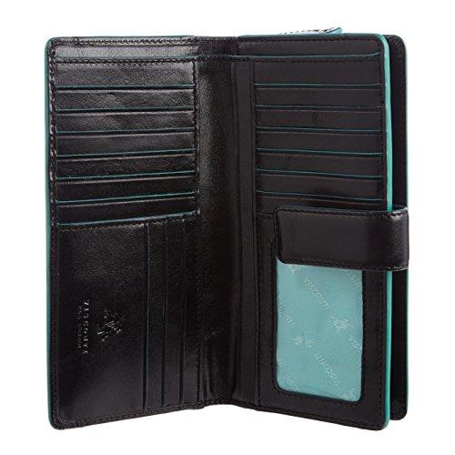 VISCONTI ® Portafoglio Donna Vera Pelle con protezione RFID Porta Carte di Credito con Portamonete Borsellino Portafogli Porta Banconote