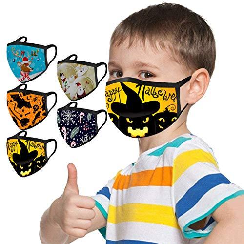 5 Stücke Kinder Halloween Mundschutz Drucken Waschbar Wiederverwendbar Kopfbedeckung