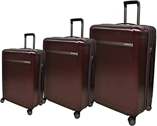 Magellan Luggage Trolley Bags 3 Pcs Set, Burgundy