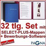 9 dreiteilige Bewerbungsmappen BLAU + 9 DIN B4 Versandtaschen + 10 Adressetiketten +...