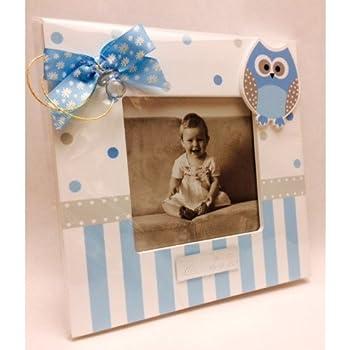 Portafotos PERSONALIZADOS para bautizo de niño marcos azules ...