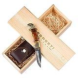 Forseti Steel Hemingway Handmade Damascus Steel Pocket Knife