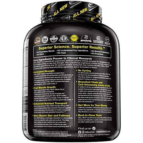 Muscletech Creatine Monohydrate Powder + Carb Mass Gainer, Fruit Punch, 2.72 kg (56 Servings)