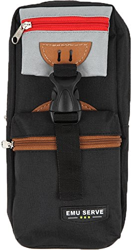 EMU SERVE カラフルな ペンケース 大容量なので余裕の収納力 学生 筆箱 男女兼用 ウエスト ポーチ バッグ ...