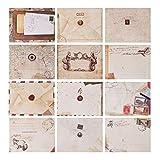 60pcs Retro Envelope Vintage Pocket Gift Letter Letter Card para Navidad/Acción de gracias/Boda/Fiesta de cumpleaños/Nota/Saludo, etc.(Mini tamaño: 7.2 X 9.5 cm / 2.8 X 3.8',estilo europeo)