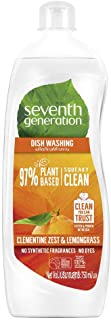 Seventh Generation Plant-based Dishwashing Liquid, Clementine, 750 ml