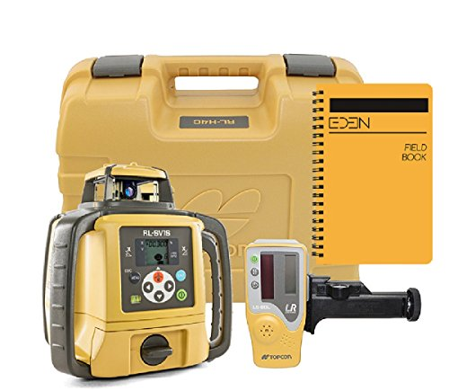 Topcon RL-SV1S Self Leveling Single Slope Rotary Laser, BONUS EDEN field book| IP66 Rating Drop, Dust, Water Resistant| 800m Construction Laser| Includes LS-80L Receiver, RC-50 Remote, Detector Holder