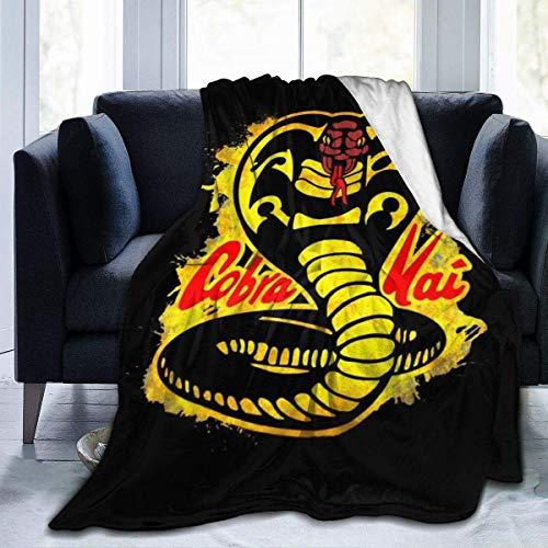 KOMOBB Cobra Kai - Manta de franela de forro polar con logo de salpicaduras, ligera, ultrasuave, cálida, para sofá, 130 cm x 150 cm