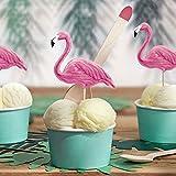 PartyDeco Flamingo-Pickets, 6 Stück, für Hawaiana Aloha Motto-Party, rosa