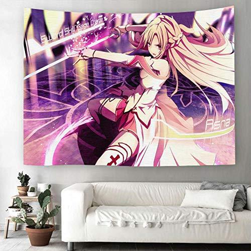 MSHAQT Tapices Anime Sword Art Onlin Alice Dibujos Animados Tapiz Película para Colgar En La Pared Toalla De Playa Tejido De Poliéster Interior Decoración 150Cm * 230Cm