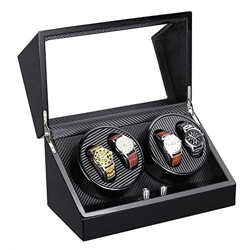 MYYINGELE Caja para Relojes Automático Winder, Watch Winder para 4 Relojes automáticos 2 Movimiento, Caja con Rotor, Rotador Reloj, Multi