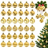 Herefun Bolas de Navidad Doradas, 36 Piezas Bolas para Arbol de Navidad, Bolas para...