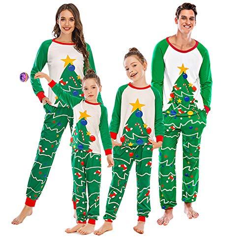 FASFSAF Pijamas NavideñOs A Juego Familia NiñOs, NiñAs, MuñEco Nieve, Ropa Dormir, NiñOs, Hombres, Mujeres, 2 Piezas, Conjunto Pantalones,Child,130