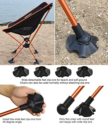 MARCHWAY Ultralight Folding Camping Chair with Anti-Sinking Wide Feet, Portable Compact for Outdoor...