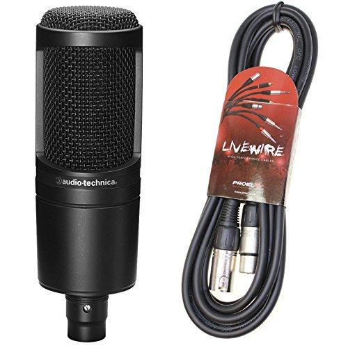 Audio Technica AT2020 - Gruppo condensatore Mic & cavo Pro XLR al piombo