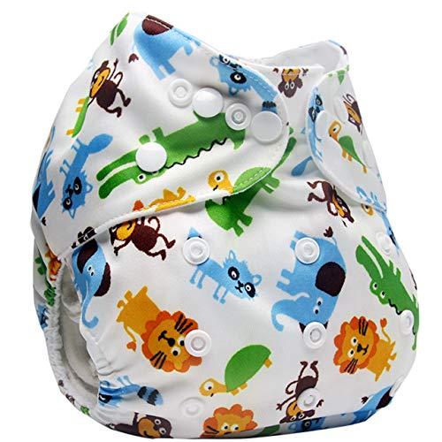 HaiQianXin 1PC Herbruikbare Wasbare Baby Luier Broek Waterdichte Verstelbare Doek luiers Leren Broek (Kleur: 2)