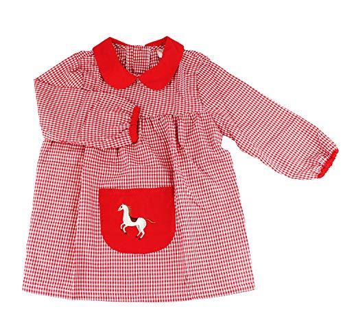Furein Baby Infantil de Cuadros, Conjunto de Uniforme colegial para niños y niñas. (1, Rojo)