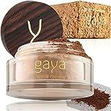 Fond de Teint Poudre Minérale Vegan - Poudre Base Maquillage Fixante 4 en 1 Multifonctions Couvrance Totale, Anti Cernes, Poudre et Protection Solaire (Nuance MF9)
