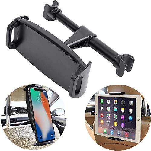 Car Headrest Mount, YUNSONG 360° Rotating Universal Tablet Holder Sedan Backseat Seat Mount for Phone 4.7-13.5 in