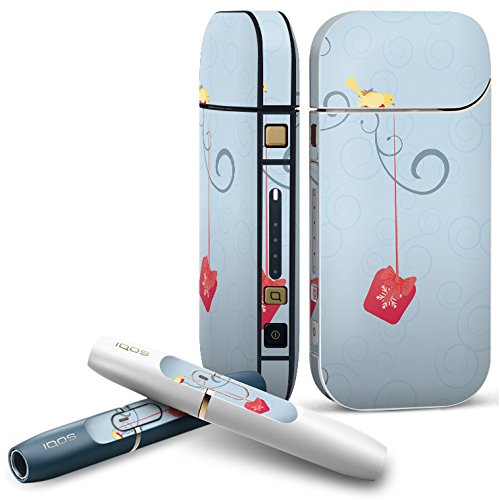 IQOS 2.4 plus 専用スキンシール COMPLETE アイコス 全面セット サイド ボタン デコ アニマル 小鳥 プレゼント 001146